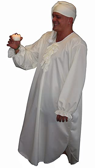CAP mens fancy dress costume CHRISTMAS CAROL SCROOGE NIGHTSHIRT One Size