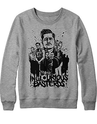 Sweatshirt Inglourious Basterds Brad Pitt Quentin Tarantino C549347 Grau S