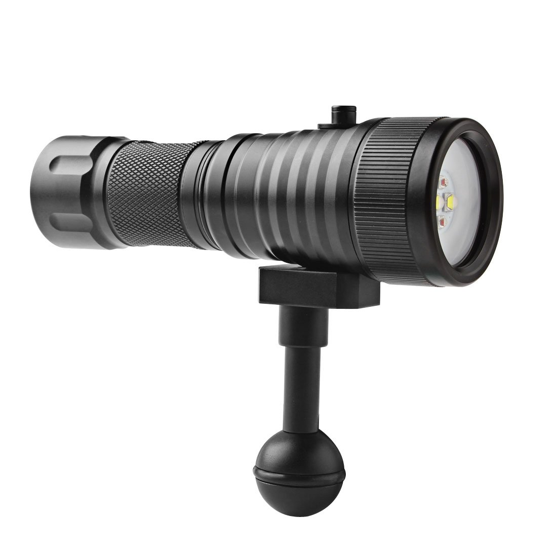 SecurityIng Wide 120 Degrees Beam Angle Scuba Diving Photography Video Flashlight 1500LM with 2 x Cree XM-L2(U4) White Light + 2 x XP-E R5 Red LED (Battery Included) by SecurityIng