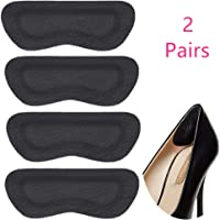 Shoe Heel Pads Grips Liners Inserts for Shoes Too Big,Shoe Filler Improved Shoe Fit and Comfort,Leather Prevent Blisters 2 Pair (2, black)