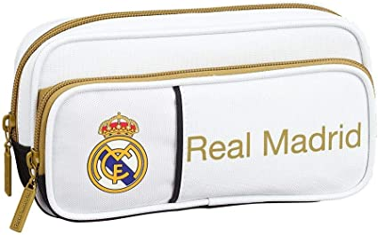 Real Madrid 1ª Equipación 18/19 Estuches portatodo y portaflautas, Unisex Adulto, Multicolor, Talla Única: Amazon.es: Oficina y papelería