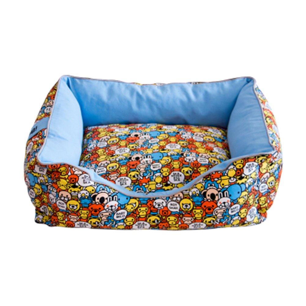 M70508cm Huangyingui Soft Washable Dog Pet Warm Basket Mattress With PP Cotton Lining bluee, orange S M L XL (Size   M7050  8cm)