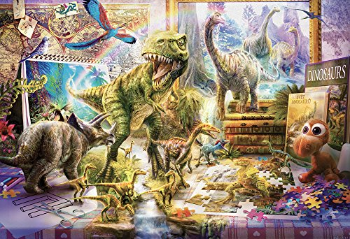 Vermont Christmas Company Dinosaurs Come to Life Kids Jigsaw Puzzle 100 Piece