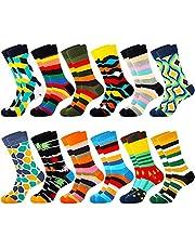 Merclix Kleurrijke sokken heren 43-46 grappige sokken geschenken voor mannen, katoen
