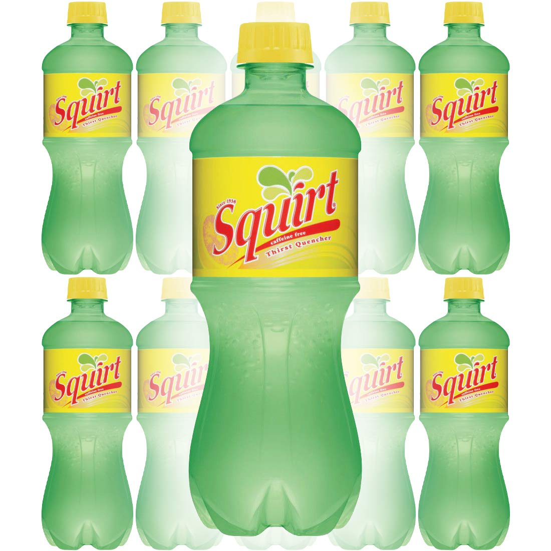 Squirt Citrus Soda, Caffeine-Free, Authentic Thirst Quencher, 20oz Bottle (Pack of 10, Total of 200 Fl Oz)