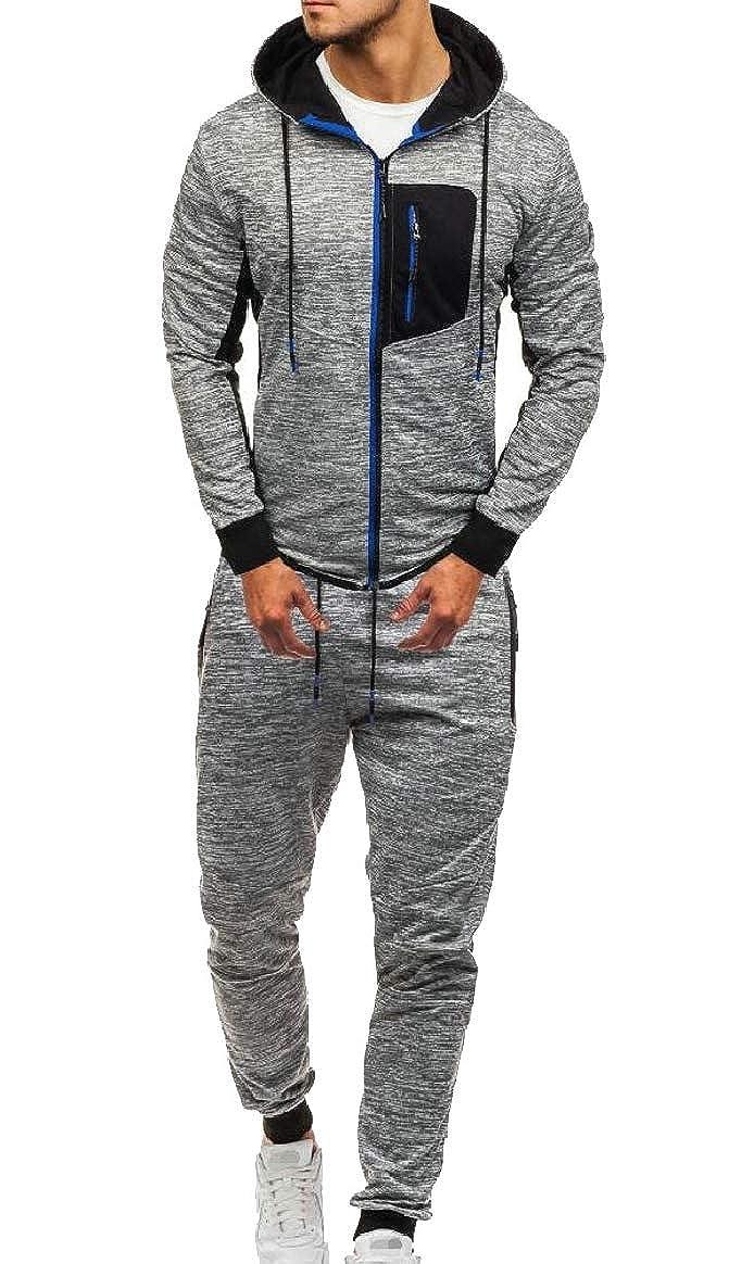ec5d92cf 1 pujingge-CA Mens Hoodies Active 2PCS Sweatsuit Sweatsuit Sweatsuit ...