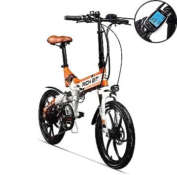RICH BIT RT730 Bicicleta eléctrica Plegable de 20 Pulgadas ...
