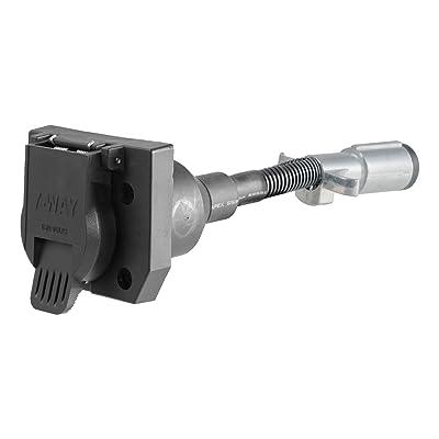 CURT 57667 6-Way Round Vehicle-Side to 7-Way RV Blade Trailer Wiring Adapter: Automotive