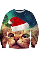 Cutiefox Digital Print Crew Neck Pullovers Sweater Sweatshirts