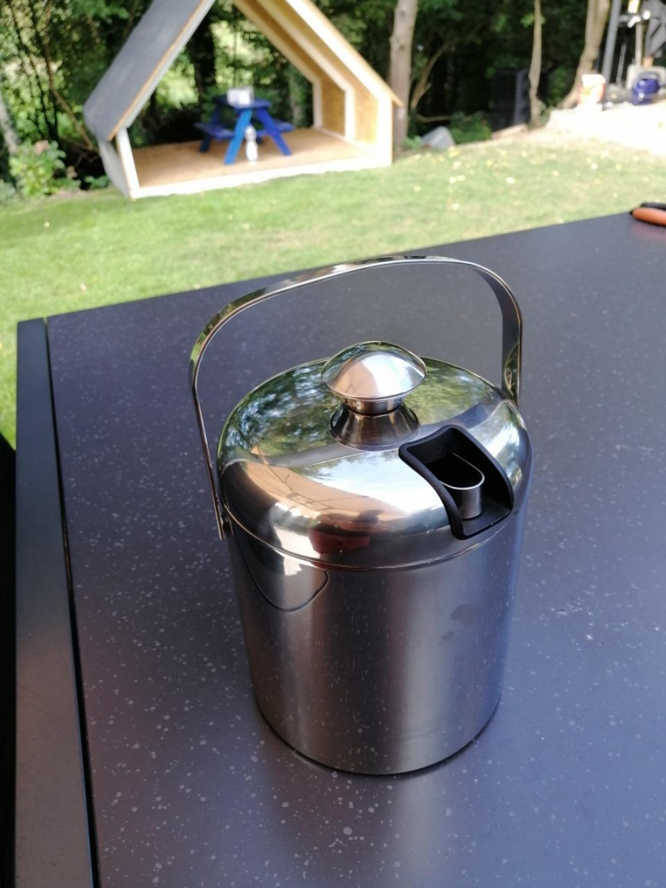Eisbehälter Sektkühler mit Zange und Deckel photo review