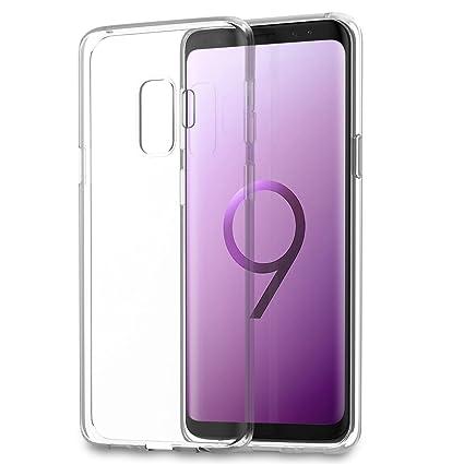 Funda Samsung Galaxy S9 Plus, Eouine Ultrafina Carcasa de Silicona Transparente Suave Gel TPU y Liquid Crystal Case Cover Bumper Fundas para Movil ...