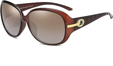 Duco Mujer Gafas de sol Classic Fashionable Ladies con lentes ...