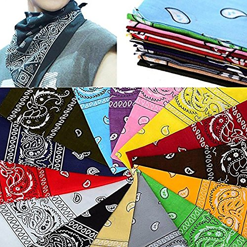 Pack & Set Unisex Cotton Paisley XL Bandana 27 Inches - 4 Pcs