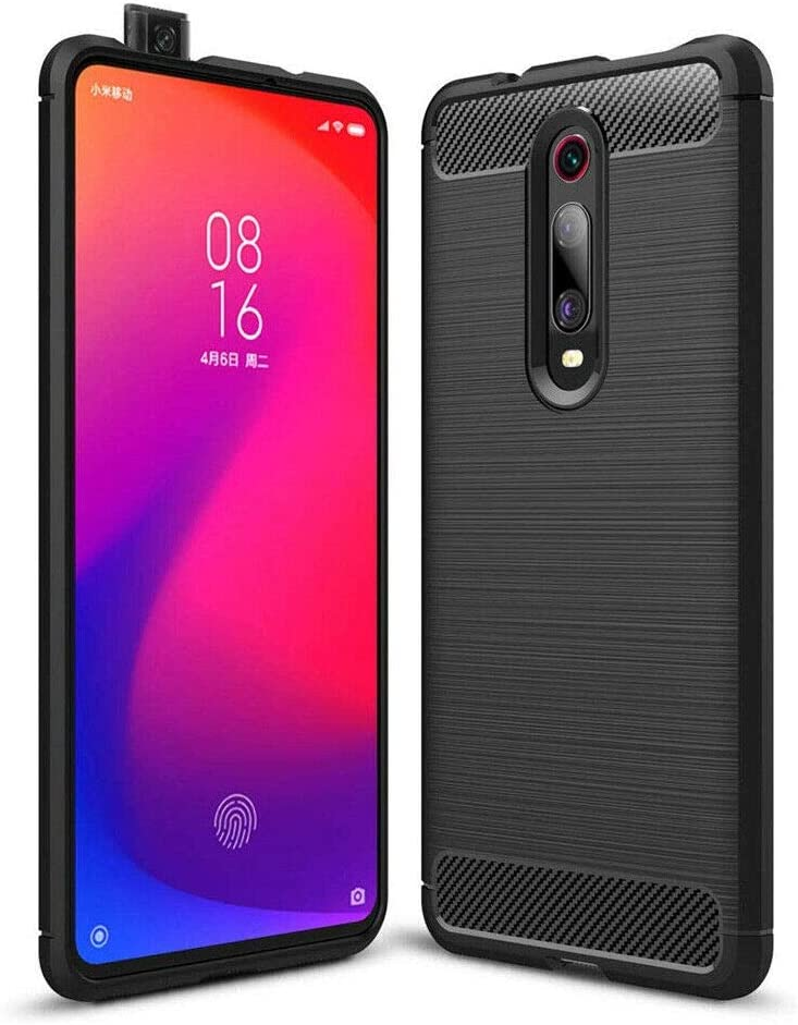 Funda Trasera de TPU Brushed Carbon Flexible para Xiaomi Mi 9T K20 y Pro