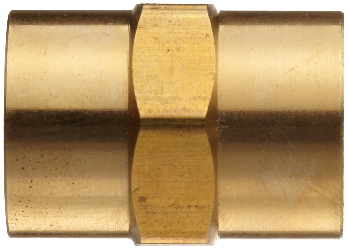 Anderson Metals Brass Pipe Fitting Coupling 3//4 x 3//4 Female Pipe