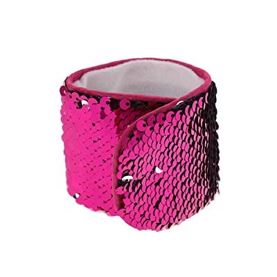 TINKSKY Mermaid Bracelet Reversible Charm Sequins Slap Wristband Halloween Costumes Children's Party Decoration: Toys & Games