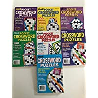 Lot of 7 Dell Crossword Puzzles - Penny Press