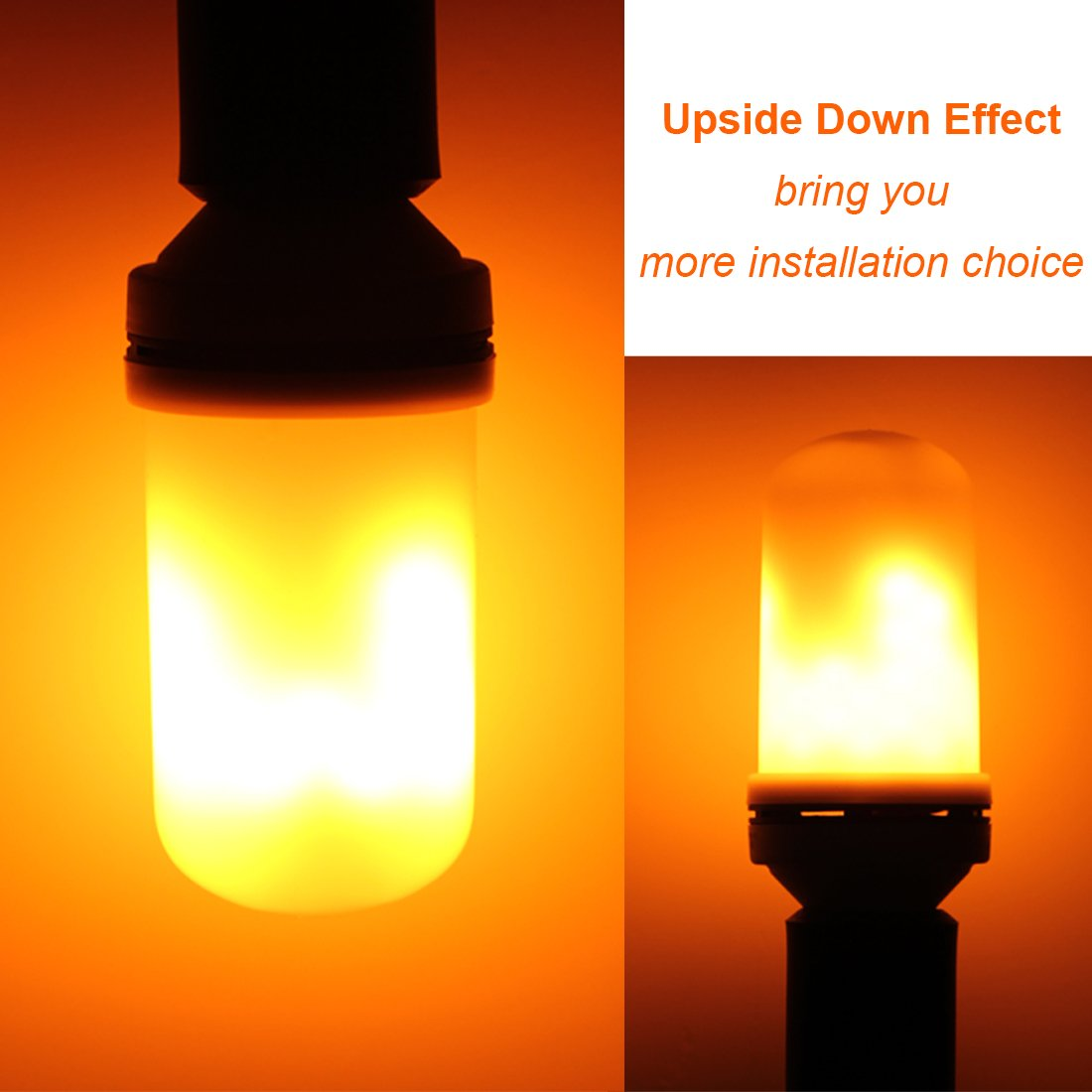 Led Landscape Lights Flickering: LED Flame Light Bulbs Fire Flicker Effect Lamp Decorative