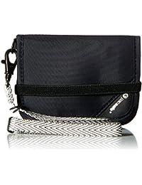 RFIDsafe V50 Anti-Theft RFID Blocking Compact Wallet, Black, One Size