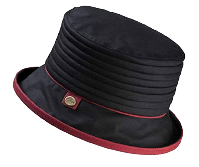 Olney Libby Ladies Waxed Cotton Hat - Black  Amazon.co.uk  Clothing 49cec3af199a