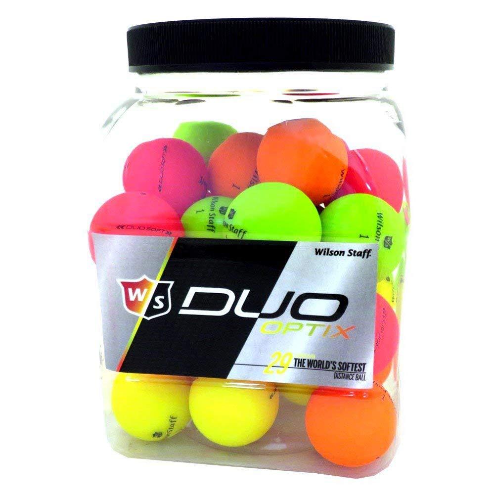 Wilson 3 docenas de Pelotas de Golf Duo Soft Optix 36 Total/Cubo ...