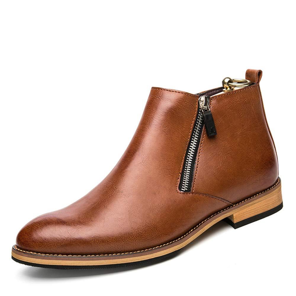 Marronee SEEKER Stivaletti da Uomo Stile classeico classeico di Alta Moda for Il Tempo Libero nuovo Winter Style