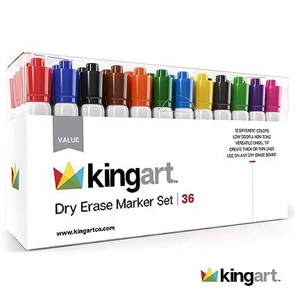 Amazoncom Kingart 945 36 Value Pack Set Of 36 Dry Erase Marker Set