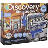 MindBlown DIY Model Engine Kit - Mechanic Four Cycle Internal Combustion Assembly Construction, Comes W/Valves, Cylinders, Ha