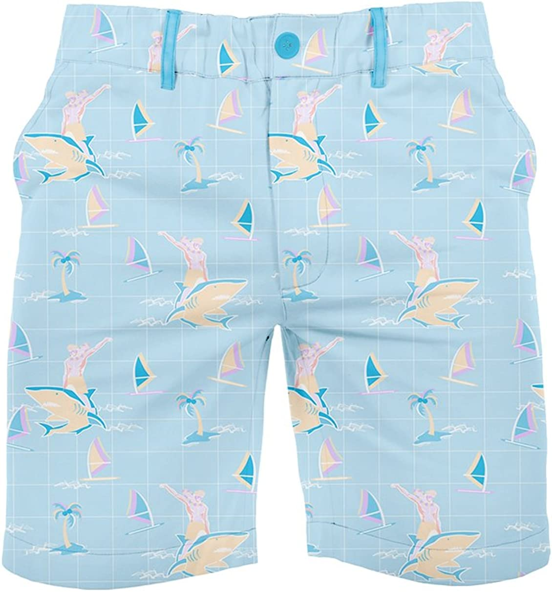 Tipsy Elves Men's Casual Summer Shorts w/Elastic Waist - Wild Patterned Golf Shorts