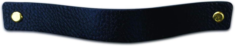 Noir Livr/é avec vis en 3 couleurs Lot de 2 poign/ées en cuir 20 x 2,5 cm Poign/ée en cuir pour armoire cuisine et porte