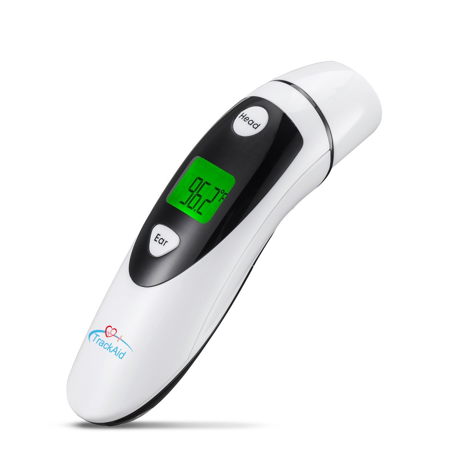 TrackAid Medical Forehead and Ear Thermometer, Infrared Digital Thermometer Suitable for Baby, Infant,