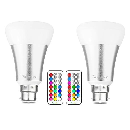 14 opinioni per LemonBest® 10W B22 RGBW LED di colore cambia lampadina con 21 tasto del