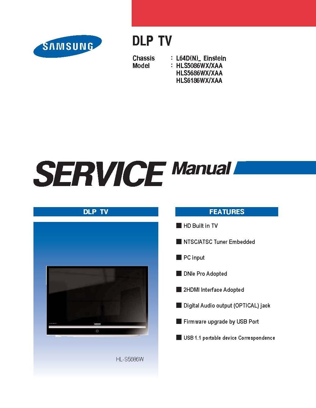 samsung hls5686wx xaa service manual hls5086wx xaa service manual rh amazon com
