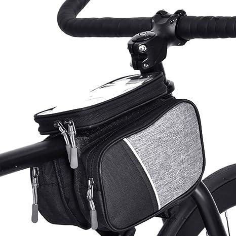 LOY Bolsa de Manillar para Bicicleta -Bolsa para Cuadro Bicicleta ...