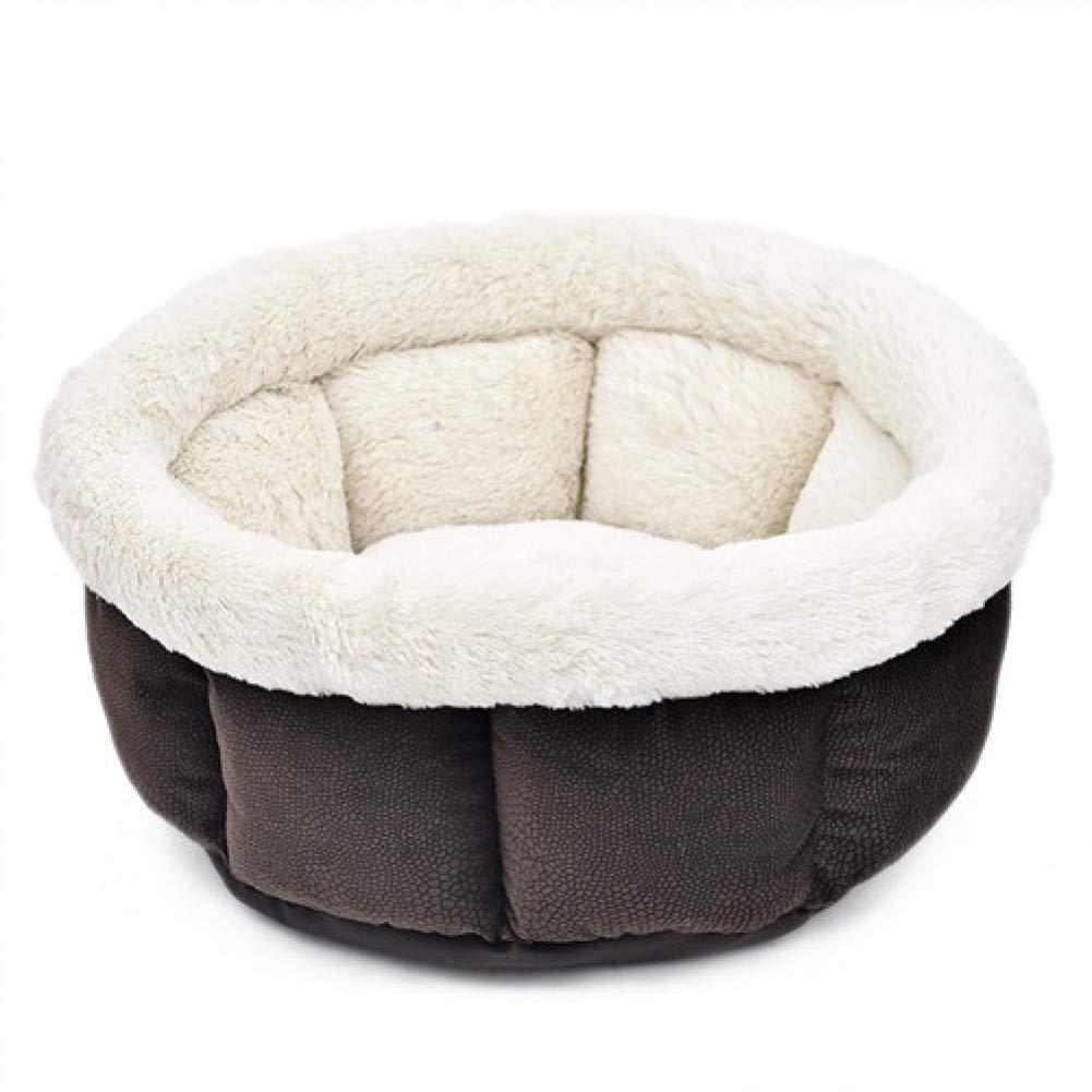 Brown only one size Cama de Gato suave nido de gatitos Perrera de lujo Casa de cachorro cama de alta calidad para perro acogedor jaula de gatito suministros para mascotas cálidas alfombras para mascotas