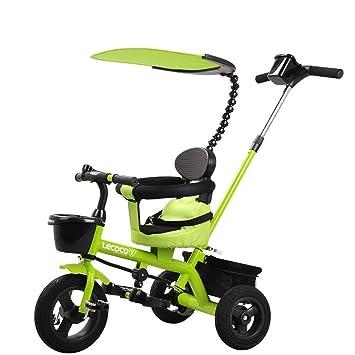 ZXUE Carro de Triciclo para Niños 1-5 Bicicleta de Pedal para Carro de bebé (Color : Verde): Amazon.es: Hogar
