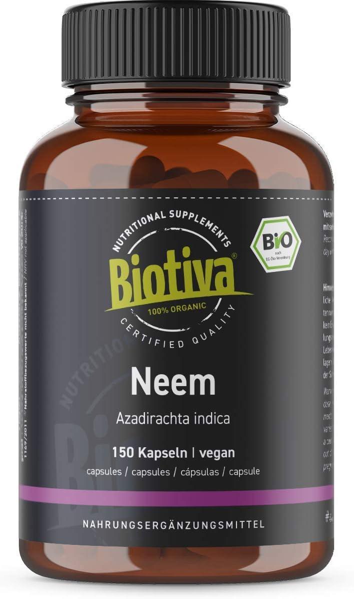 Polvo de neem o nimbo de la India orgánico 100 g - Azadirachta indica - árbol de neem - nimbo o margosa de la India - suplemento alimenticio ayurrvédico - llenado en Alemania (DE-ÖKO-005)