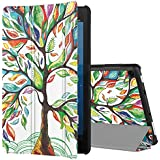 TiMOVO Slim Case for All-New Amazon Fire HD 8 Tablet (7th and 8th Generation Tablets, 2017 and 2018 Release) - Ultra Lightweight Slim Shell Stand Protective Cover case for Fire 8 tablet, Lucky Tree