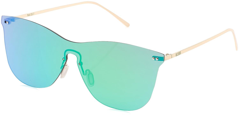 Ocean Eye Gafas de Sol, (Oro/Verde), 58 Unisex Adulto