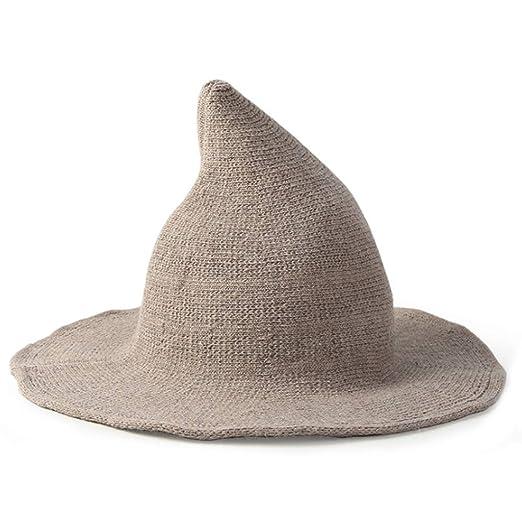 WuLi77 Sombrero de fiesta de Halloween, dama de lana pescador ...