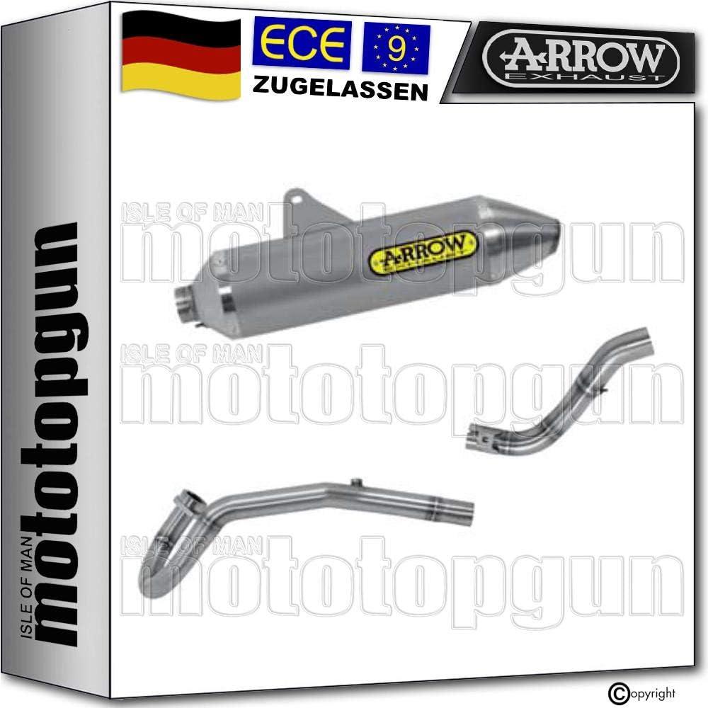 Arrow Komplettanlage Kat Homologiert Aluminium Thunder Kompatibel Mit Honda Crf 250 L Rally 2017 72528ao 72133kz 72134pd Auto