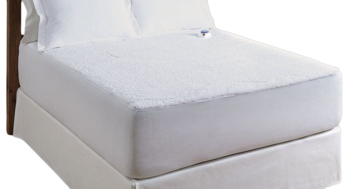 Serta Luxurious Sherpa Top Low-Voltage Electric Heated Mattress Pad, King, White by Serta