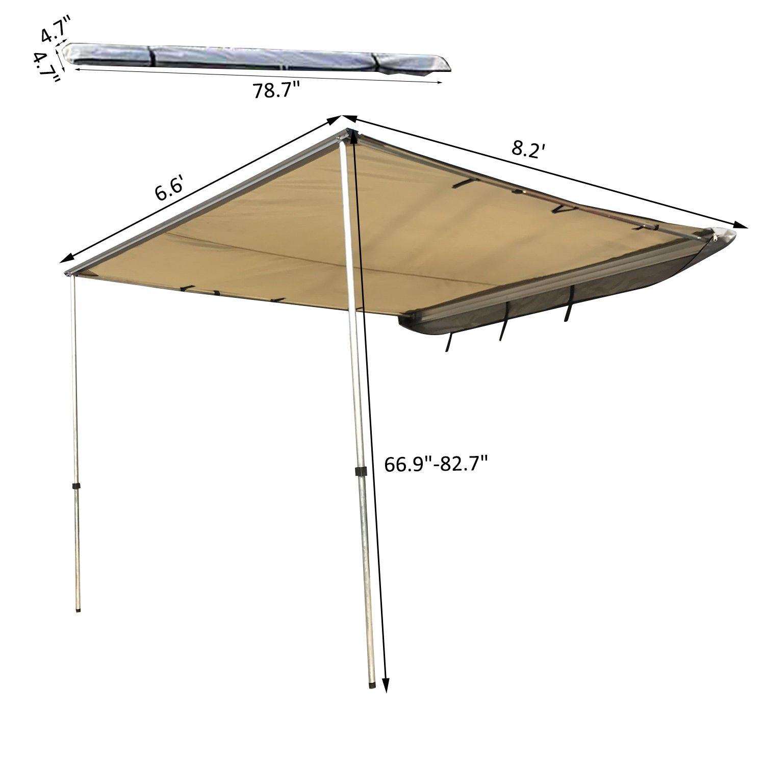 awning arm walmart window ip retractable drop brown com outsunny manual