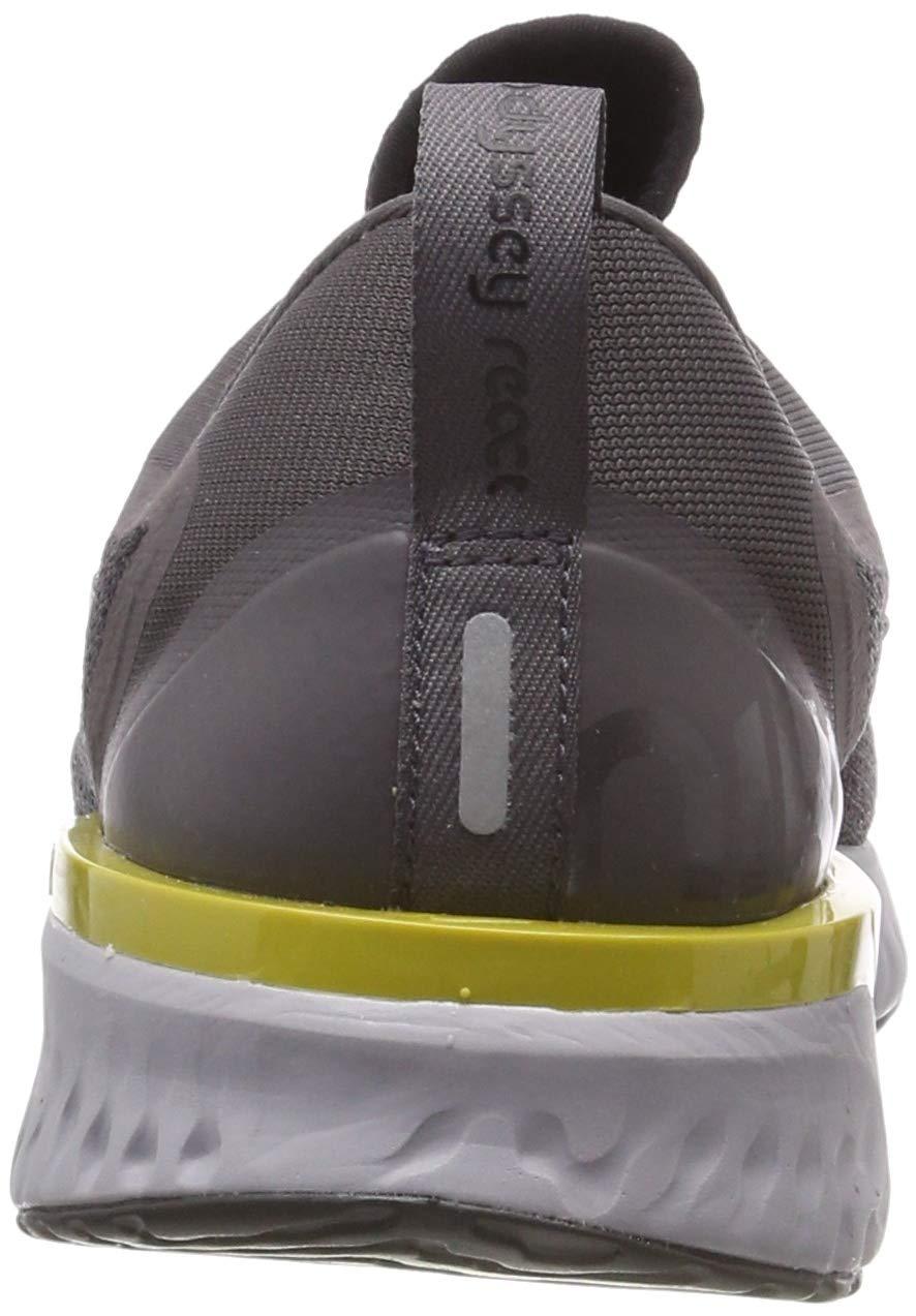 Nike Mens Odyssey React Running Shoes Black/Metallic/Grey/Atmos Grey 7 by Nike (Image #2)