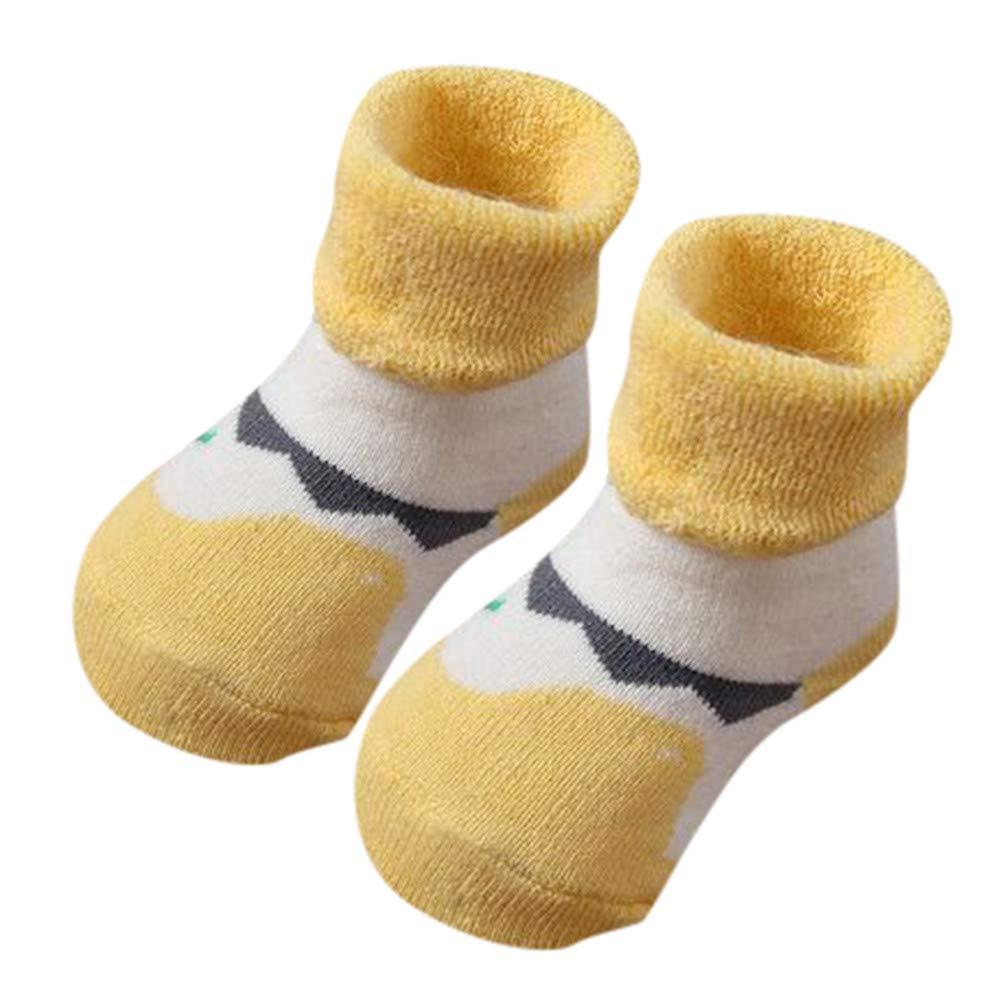 FEITONG Kids Infant Toddler Baby Boys Girls Cartoon Animals Anti-Slip Knitted Warm Socks