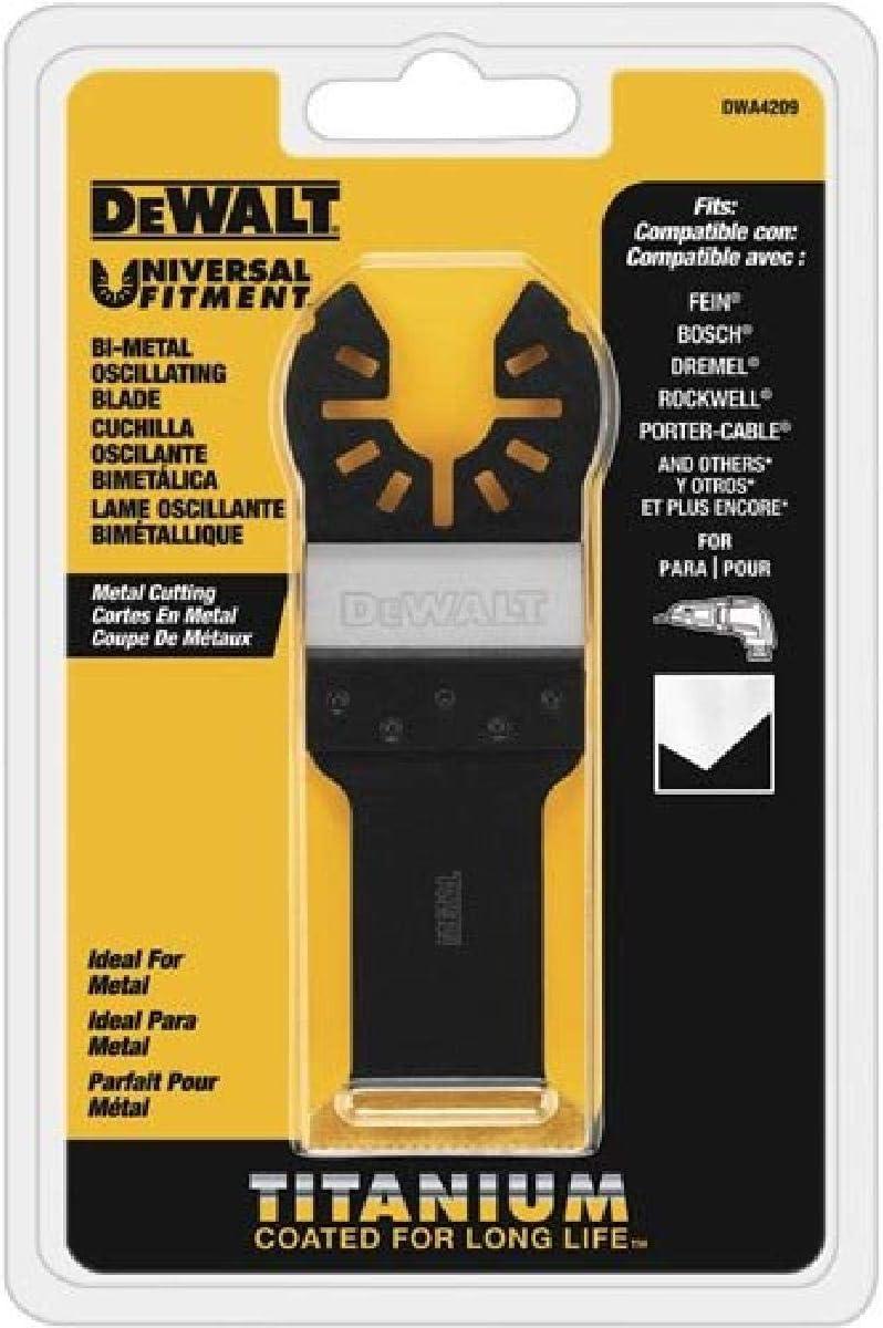 DEWALT Oscillating Tool Blade, Titanium, Metal Cutting (DWA4209) - Power Saw Blades -