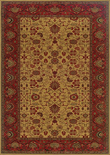 Couristan 3773/4874 Everest Tabriz/Harvest Gold 2-Feet by 3-Feet 7-Inch Rug Couristan Oriental Rugs Collection