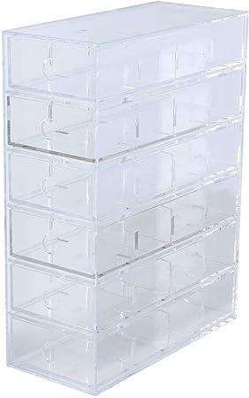 Muji acrílico caso 6 cajas organizador para piezas pequeñas: Amazon.es: Hogar