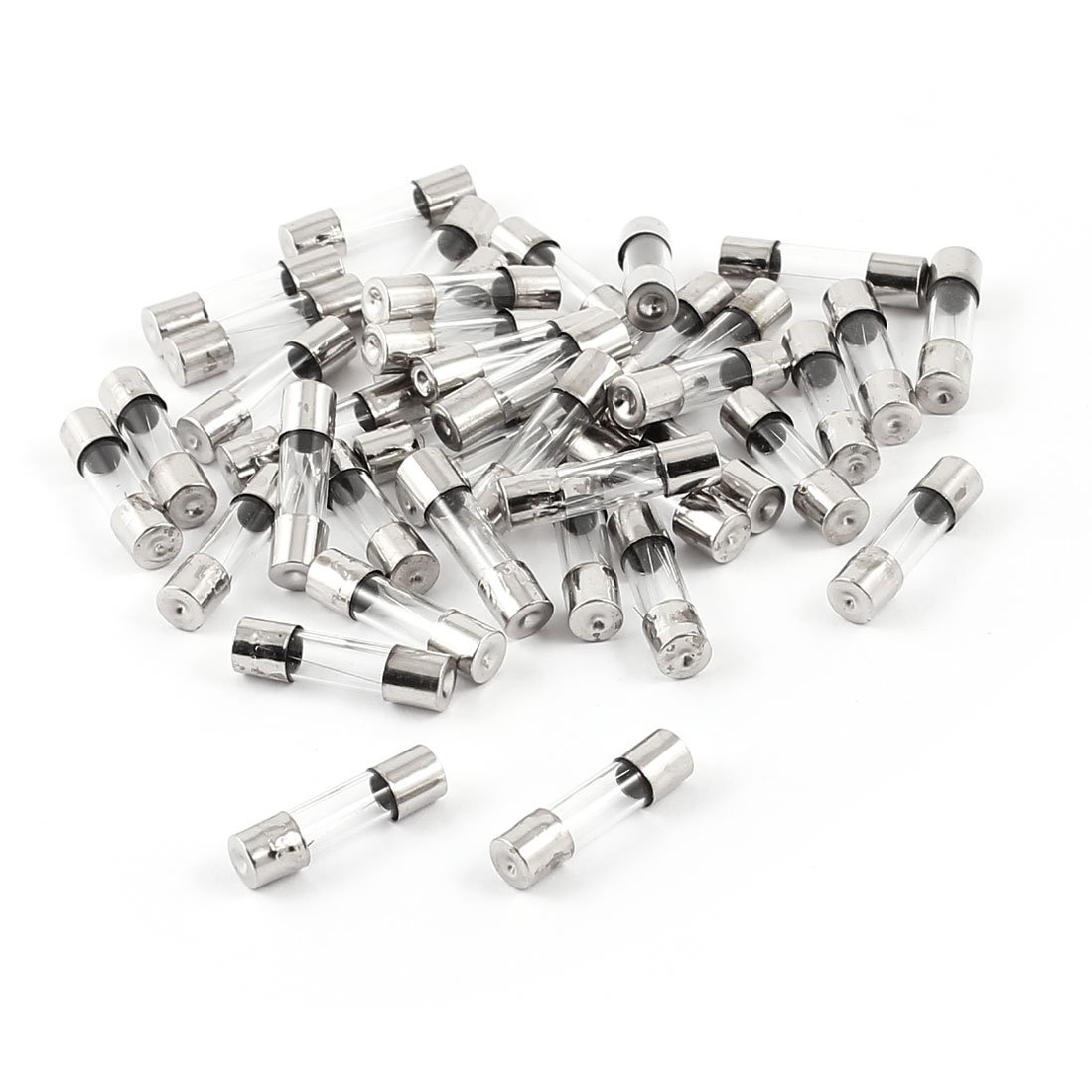40 Pcs 250V 1Amp 5mmx50mm Fast Blow Type Quick Glass Tube Fuses