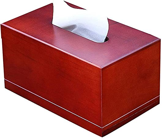 Caja de pañuelos Sostenedores de tejido de madera maciza Soporte de papel de carga cuadrada for coche Bandeja de servilletas multifunción Café Hogar Sala de estar Dispensador de toallas de papel stand: